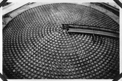 Construction of dome at CPO