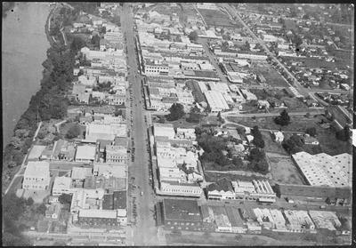 Aerial view of Hamilton CBD