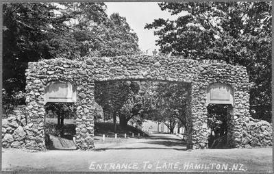 """Entrance to the Lake, Hamilton. NZ"""