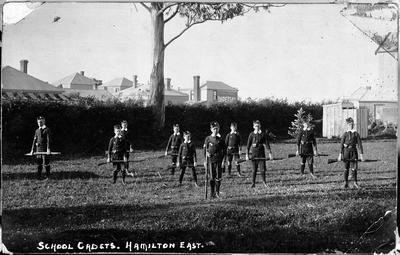 Hamilton East School cadets
