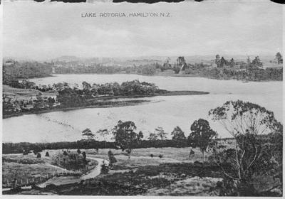 """Lake Rotoroa, Hamilton. N.Z.""*"
