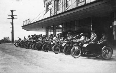 Motorcycle club on Hood Street