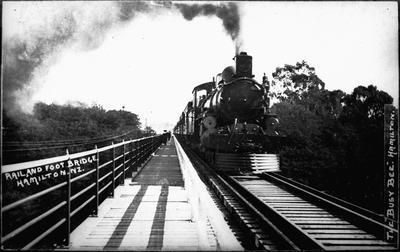 """Rail & Foot Bridge. Hamilton. NZ."""
