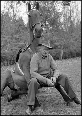 Johnny Rogers and horse
