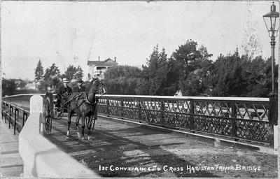 """1st Conveyance to cross Hamilton Traffic Bridge."""