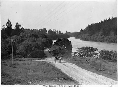 The Waikato River below Hamilton - No 1. Bridge