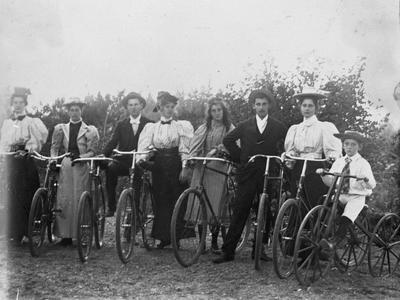 The Graham family with cycles