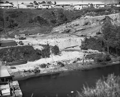 Cobham bridge construction.
