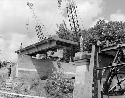 Converting rail to road bridge