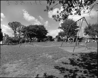 Children's playground at Hamilton Lake Domain