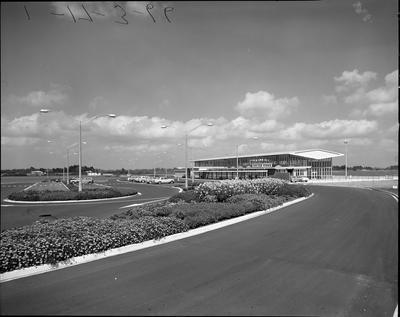 Hamilton Airport parking and terminal building
