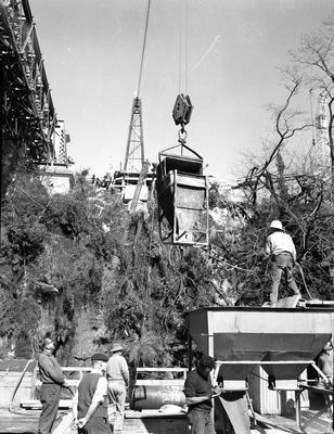 Railway Bridge construction c. 1962