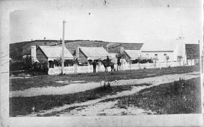 Settler's cottages & Anglican Church