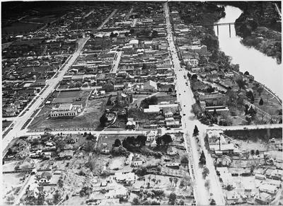 Aerial view of Hamilton CBD