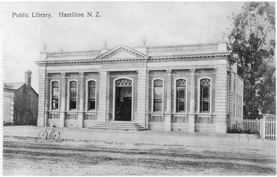 'Public Library. Hamilton N.Z.'