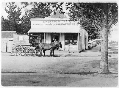 Edward Pearson's carbolic sand soap store