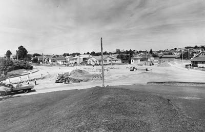 Construction of roundabout on Anglesea Street