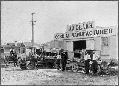 J.A. Clark cordial manufacturer