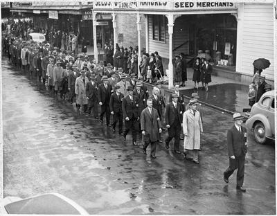 6th Hamilton company NMR - ANZAC parade Hamilton 1939