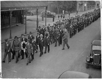 6th Hamilton company NMR - ANZAC parade Hamilton 1940