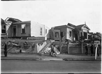 Tornado damaged Frankton houses