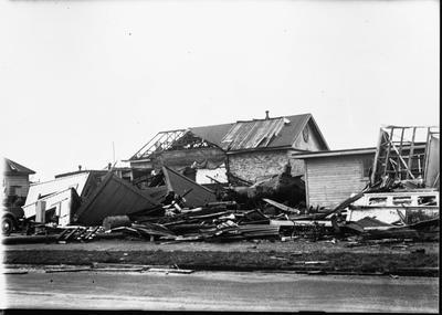 Tornado damaged Masonic lodge