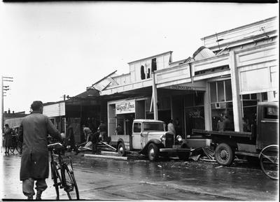 Tornado damaged Frankton stores