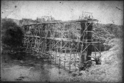 Hamilton Railway Bridge under construction