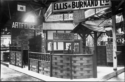 Ellis & Burnand - show display - indoors - ARTFENCE, EAZIFOLD, shelter, windows, porches etc.
