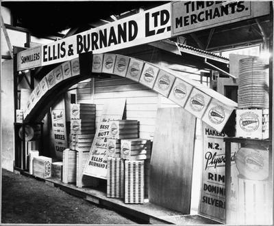 Ellis & Burnand - Waikato Winter show display - butter and cheese crates