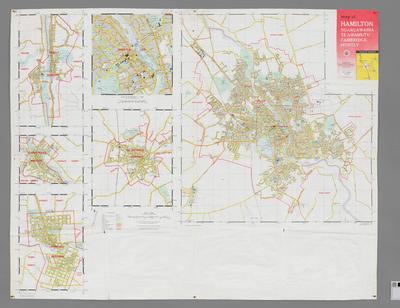 Map of Hamilton, Ngaruawahia, Te Awamutu, Cambridge, Huntly 1965