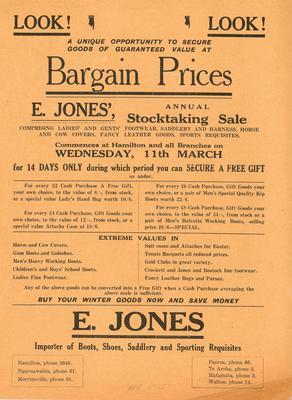 E Jones, Look! Look! Bargain Prices