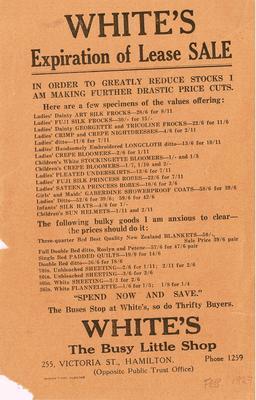 White's Winter Sale