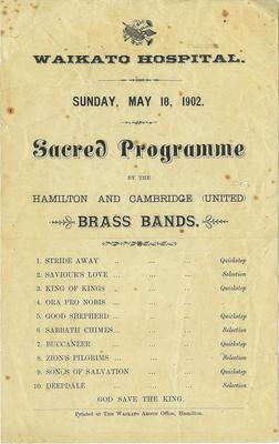 Hamilton and Cambridge (United) Brass Bands