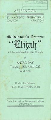 Mendelssohn's Oratorio Elijah