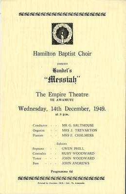 Hamilton Baptist Choir
