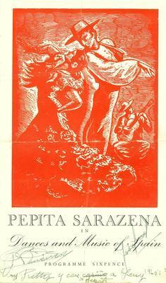 Pepita Sarazena in dances and music of Spain.