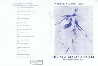 The New Zealand Ballet Winter season 1965