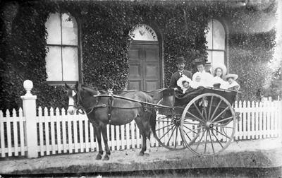 Fow family outside Masonic Hall