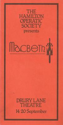 The Hamilton Operatic Society presents Macbeth