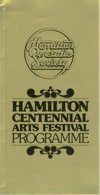 Hamilton Centennial Arts Festival Programme