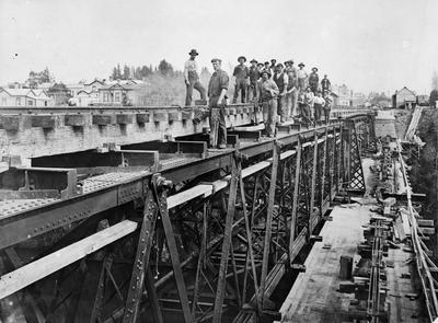 Railway Bridge under construction