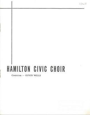 Hamilton Civic Choir Concert Programme