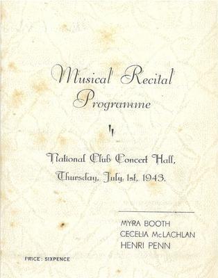 Musical Recital Programme