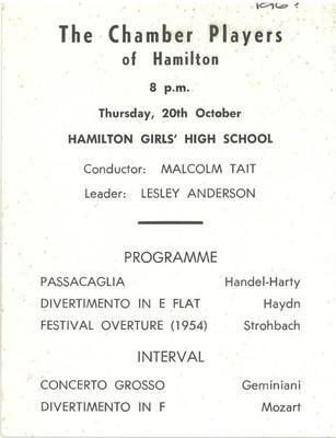 The Chamber Players of Hamilton