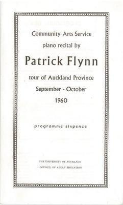 Patrick Flynn piano recital