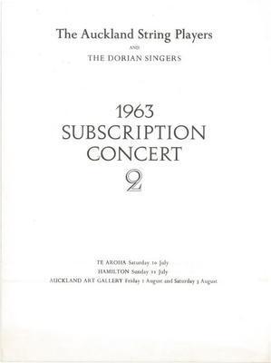 1963 Subscription Concert 2
