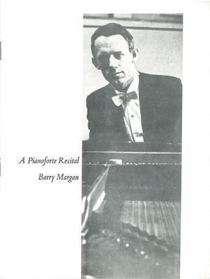 Barry Margan piano recital