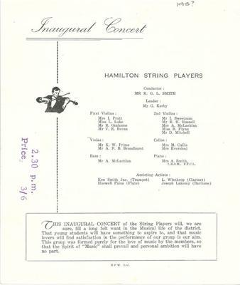 Hamilton String Players Inaugural Concert