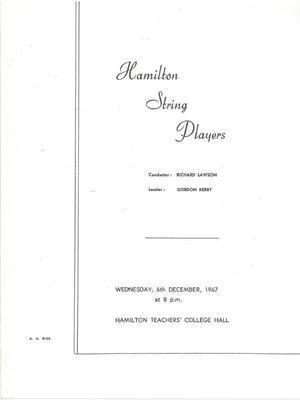 Hamilton String Players